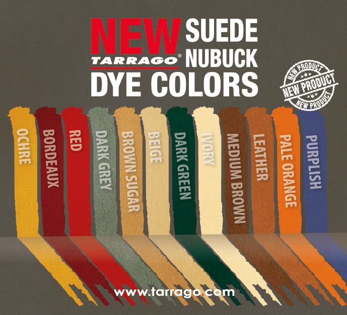 Suede Nubuck Dye Colors Tarrago