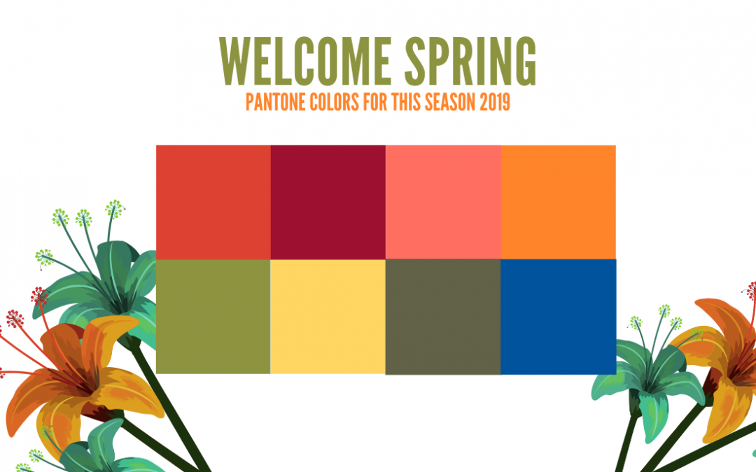 Pantone Colors for this Spring 2019