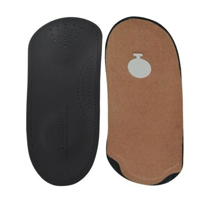 Insole leather Three Quarter Black