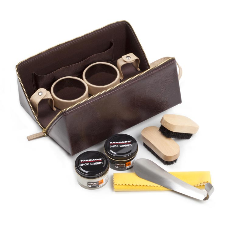 Tarrago Shoe Care Kit Deluxe Brown